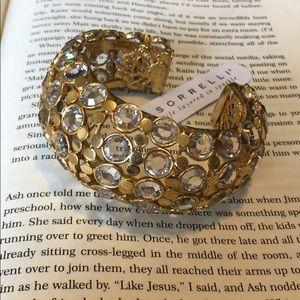 Sorrelli Clear Crystal Cuff Bracelet